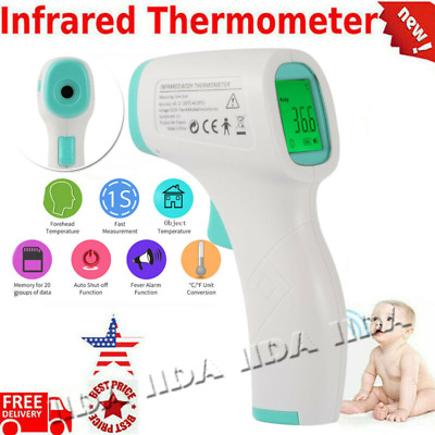 Digital Infrared Temporal Forehead Thermometer gun for human baby adult body LCD