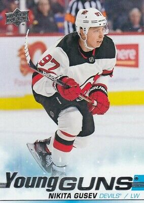 2019-20 UD Series II Young Guns # 468 Nikita Gusev New Jersey Devils