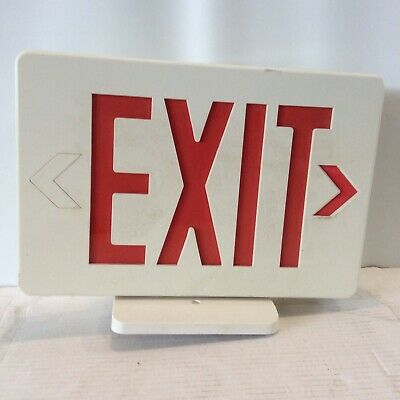 Commercial Lighted Exit Sign Plastic Red Writing with Arrow