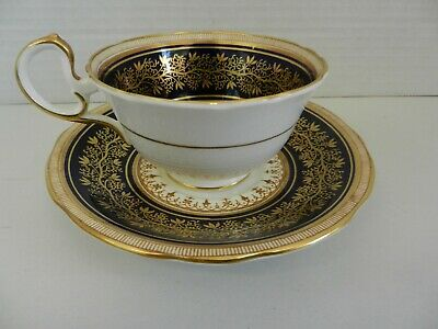 Aynsley Cobalt and Gold Cup and Saucer