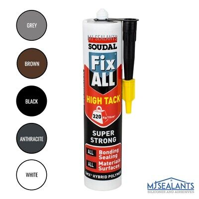 Soudal Fix All High Tack Hybrid Polymer Sealant Adhesive Various Colours