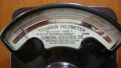 ANTIQUE THOMPSON VOLTMETER GENERAL ELECTRIC CO. 0 to 150 VOLTS TYPE P 1903