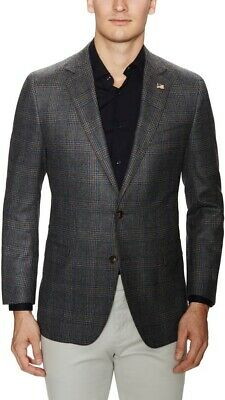 Brooks Brothers Glen Plaid Gray/Burgundy Sports Coat Suit Blazer Mens 44R $485