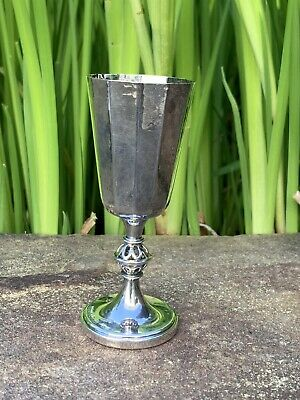 Swedish Hammered 830 Silver Goblet By Eric Lofman MGAB