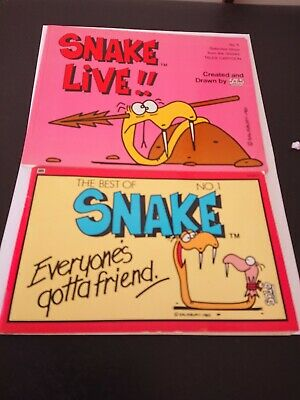 2 Snake Comic Books~ Snake Live!!!  1981 No 5~ Best of Snake No. 1~1984~SOLS