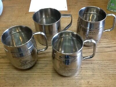 Wild Bill's labor day woodstock ct. fair Stainless Steel Mugs 4 pc lot