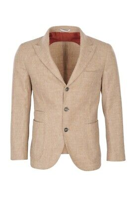 Brunello Cucinelli Blazer Men's 44 SALE !! Beige Slim Fit Mottled Alpaca