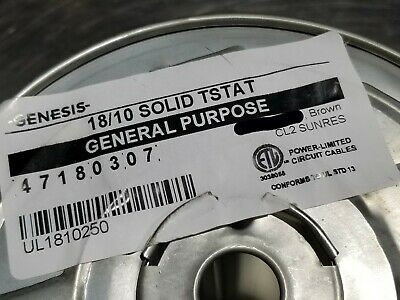 Honeywell Genesis 4718 18/10C 18awg 10 Conductor Thermostat Cable Brown /50ft