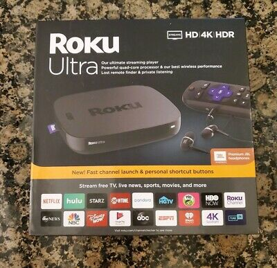 Roku Ultra 4K Streaming Media Player 4K/HD/HDR 2019 with Premium JBL Headphones