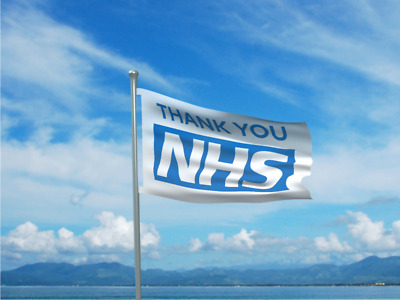Thank You NHS Flag Banner 5x3ft (150x92cm) Key Workers Banner