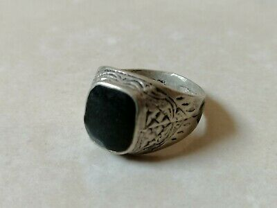 Rare Extremely Ancient Old Ring Roman Metal Silver Color Artifact Authentic