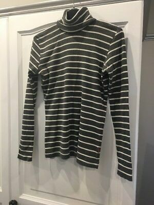 Grey/cream Stripe Polo Jumper Aged 13-14 (164) From H & M