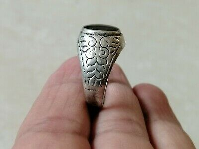 Rare Ancient Ring Roman Metal Silver Color Artifact Authentic Amazing