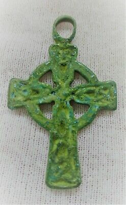 Superb Ancient Byzantine Openwork Crusaders Cross Amulet Wearable