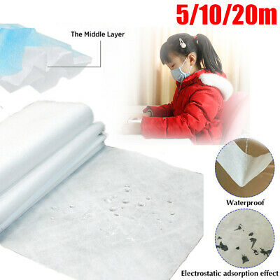 Melt-blown Nonwoven DIY Fabric Mouth Face Craft Filter 5M 10M 20M
