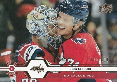 2019/20 Upper Deck Ud Exclusives 035/100 John Carlson #64 Brand New