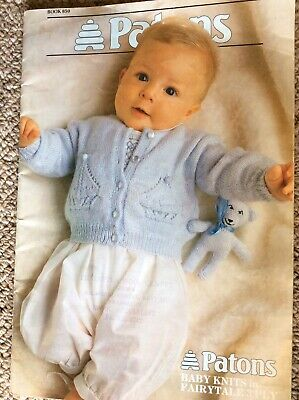 Vintage Patons Knitting Pattern Book 850 Baby Knits in Fairytale 3 Ply