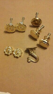 Lot of Gold Tone Miscellaneous Drawer/Cabinet Knob Pulls and Such