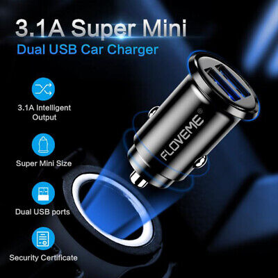 Universel  Chargeur Voiture Allume Cigare Usb Double Port 3.1A Pr Iphone Samsung