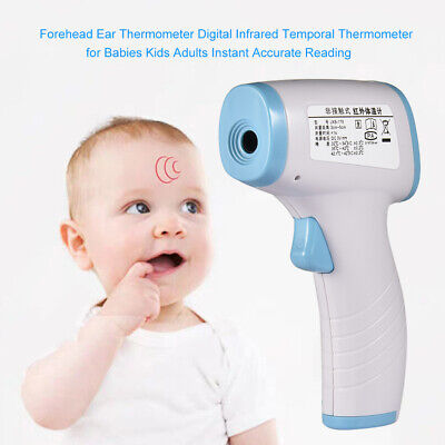 Ear Forehead LCD Digital Thermometer Medical Baby Body Infrared Accurate Meter