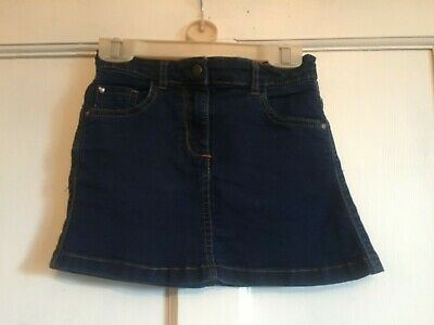 Girls Dark Denim Short Skirt from Marks & Spencer Age 5-6 years
