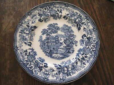 """Tonquin Royal Staffordshire BLUE/WH 6.5"""" PLATE by Clarice Cliff Made in England"""