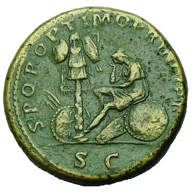Trajan Ae Sestertius With Old Collection Id Packet (906P)