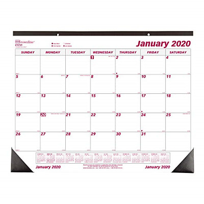 Brownline 2020 Monthly Desk Pad Calendar 22 x 17 Inches (C1731-20)