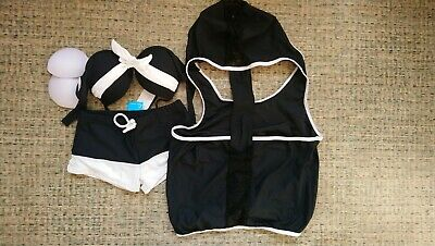 Shedaisi 3 piece swimsuit black/white size M NEW