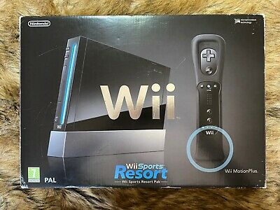 nintendo wii sports resort pack Boxed Black Console - Please Read