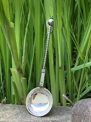 Vintage Unique Twisted handle Norwegian 830 silver Cream ladle