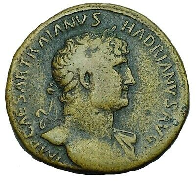 Hadrian Ae Sestertius With Old Collection Id Packet (914P)