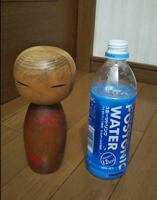 Japanese Vintage Wooden Kokeshi doll 7.5' 19cm tall Signed RARE