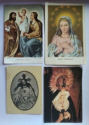 lote 4 estampas religiosas antiguas Varias holy card