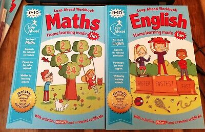 Leap Ahead 9-10 Years MATHS & ENGLISH Workbook Expert Paperback 2019 NEW STAGE 2