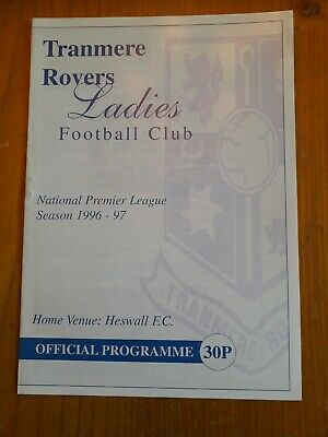 tranmere rovers ladies v ilkeston town ladies 1/9/1996