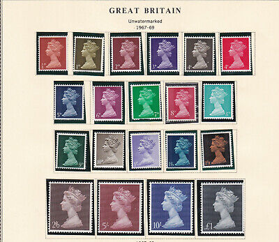 Gb.1967-69 Pre-Decimal Machin Issues Including High Values