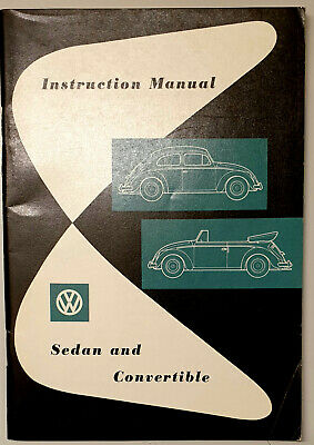 Betriebsanleitung Instruction Vw Sedan And Convertible In English  August 1957