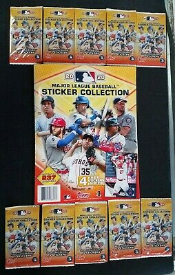 2020 Topps Major League Baseball Sticker Collection Album with 10 packs