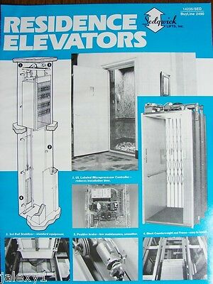 1989 SEDGWICK Lifts PEELLE Co Residence ELEVATORS Fire Resistant Vintage Catalog