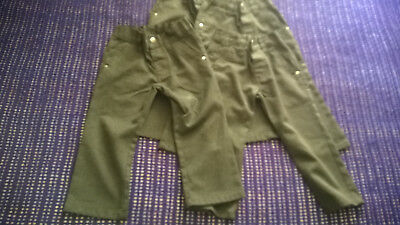 FOUR pairs of NEXT boys grey slimfit smart school trousers Age 3 VGC
