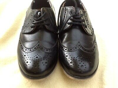 River Island Boys Black Leather Brogues Size 10