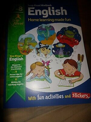 LeapAhead Home Learning English Educational Workbook Kids Ages 7-8 Year