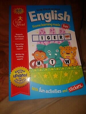 English Leap Ahead Learning Workbook Age 4-5 Children's Education Help