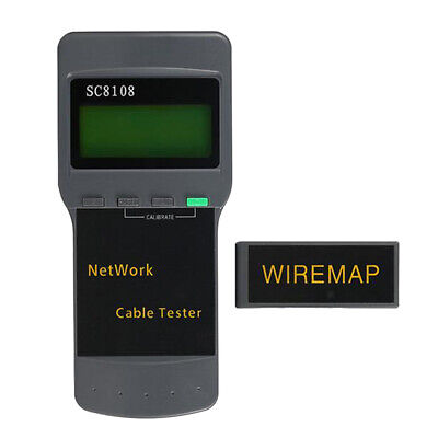Multifunctional SC8108 LCD Network Wire Tester Meter Length Cable Test
