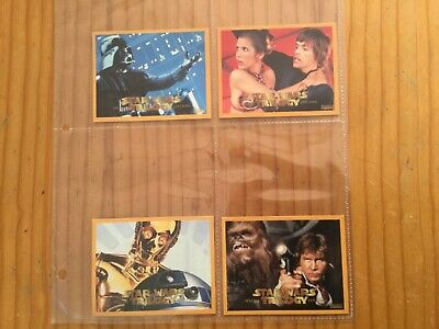 STAR WARS TRILOGY COMPLETE SET OF 4 CARDS By TV WEEK Issued YEAR 1997