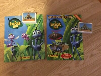 2 x A BUG's LIFE STICKER ALBUMS COMPLETE WITH ALL STICKERS (Not Inserted)