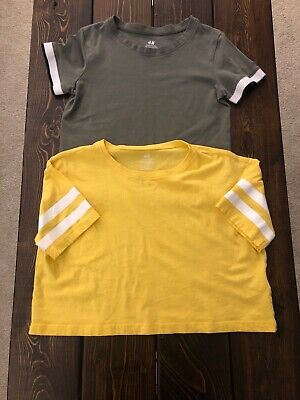 Two H&M Youth Crop Tops Size 10-12Y  EUC