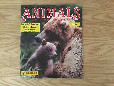 ANIMALS OF THE WORLD STICKER ALBUM  WITH ALL STICKERS (Inserted) By PANINI