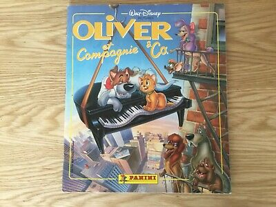 OLIVER & CO. STICKER ALBUM COMPLETE WITH ALL STICKERS (Inserted) By PANINI -1988